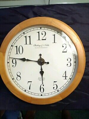 Sterling & Noble Clock Company Mfg, no 9, solid wood around