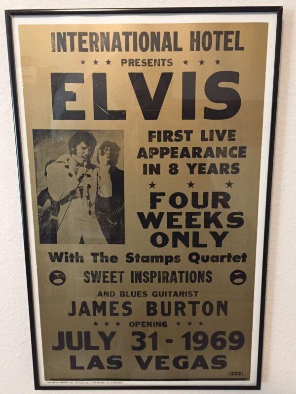 Tribune Showprint Elvis Presley At The International Hotel Las Vegas Poster