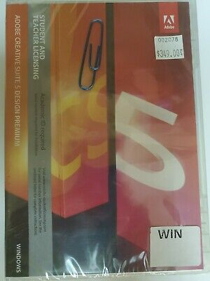 Adobe Creative Suite 5 Design Premium for Win-Full Version (with Paper Clip buy)