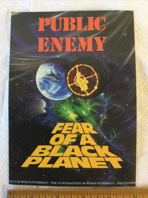 Public Enemy Fear Of A Black Planet Promotional Oversize Postcard Unused Fine