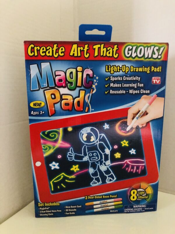 Magic Pad Draw Sketch Light Up LED Board Create Doodle Erase As Seen On TV  T-3