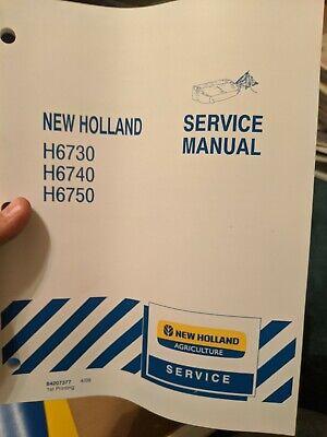 New Holland H6730 H6740 H6750 Disc Mower Service Repair Shop Manual Original Nh