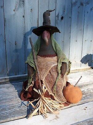 Primitive WITCHY OLD  BUZZARD Awesome Halloween Doll Pattern - Awesome Halloween