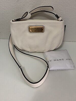 (1) NWT Marc by Marc Jacobs Leche Cream New Q Percy Crossbody Purse *FREE SHIP*