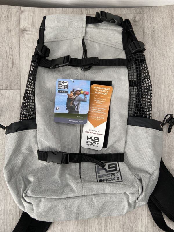 Grey K9 Sport Sack AIR Size Small NWT Dog Carrier Backpack