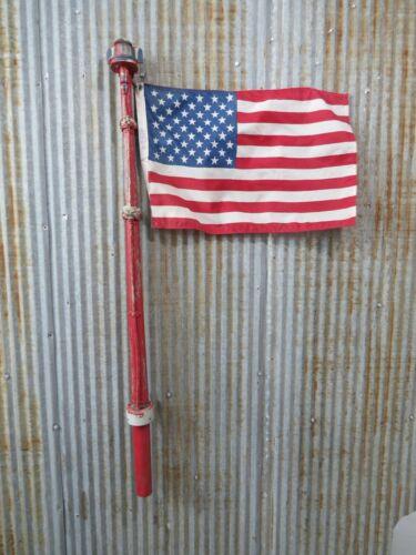48+1/2 INCH USED WOOD FLAG POLE POST STAFF BOAT SHIP SAIL MAST LIGHT (C1.5C670)