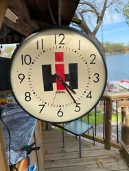 International-Harvester two sided electric clock