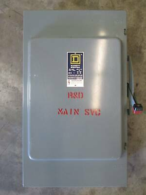 Square D H-364-n 200 Amp 600v Fusible Safety Switch Disconnect 200a H364n