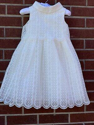 New With Tag  Janie & Jack Special Occasion Dress White Organza $149.00 Sz 3T White Special Occasion Dress