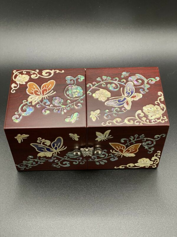 Korean Mother-of-Pearl Secret Cubic Jewelry Box