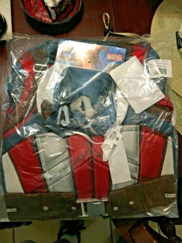 Authentic Disney Marvel Avengers Captain America Deluxe Costume Boys 9/10 sealed