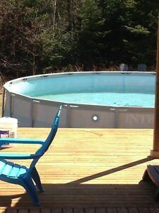 21' Intex pool