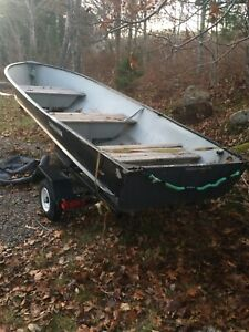 14' aluminum boat w/ 8hp johnson and trailer package