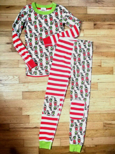 NWT Hanna Andersson DR SEUSS GRINCH Pajamas MIX UP Stripes CHRISTMAS 130 8 NEW!!