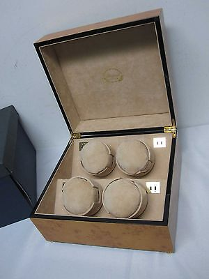 NEW RAPPORT W114 PERPETUA II 4 WATCH WINDER ~ LOVELY BLONDE WOOD CASE MIB!