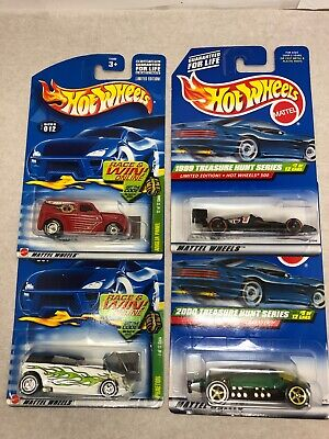 Lot of 4 (4) Hot Wheels Treasure Hunt, All Different Lakester, Angola, more!