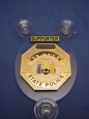 2020 NYSP-NEW YORK STATE POLICE-SUPPORTER- police CAR SHIELD-FOP