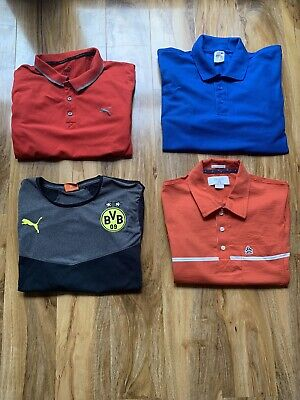Men's Clothes Bundle Polo Shirt Tops Joblot Puma Penguin Medium Chest 38-40