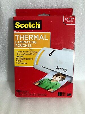 Thermal Laminating Pouches 5 X 7 Inches Scotch Photo Size 100 Pouches
