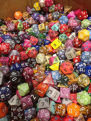 LOOSE (1/2) POUND O CHESSEX OF ASSORTED RANDOM DICE - GAMING AD&D (8 OUNCES)