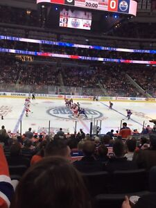 Oilers Center Ice Club Seats Available! Section 103 Row 17!