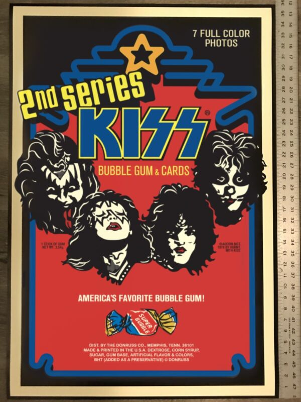KISS Donruss SERIES 2 Bubble Gum & Cards 24 x 36 poster, NEW unused. VERY COOL!