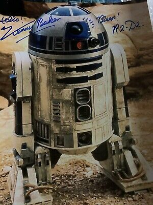 kenny baker signed R2D2 Star Wars 10x8 Photo
