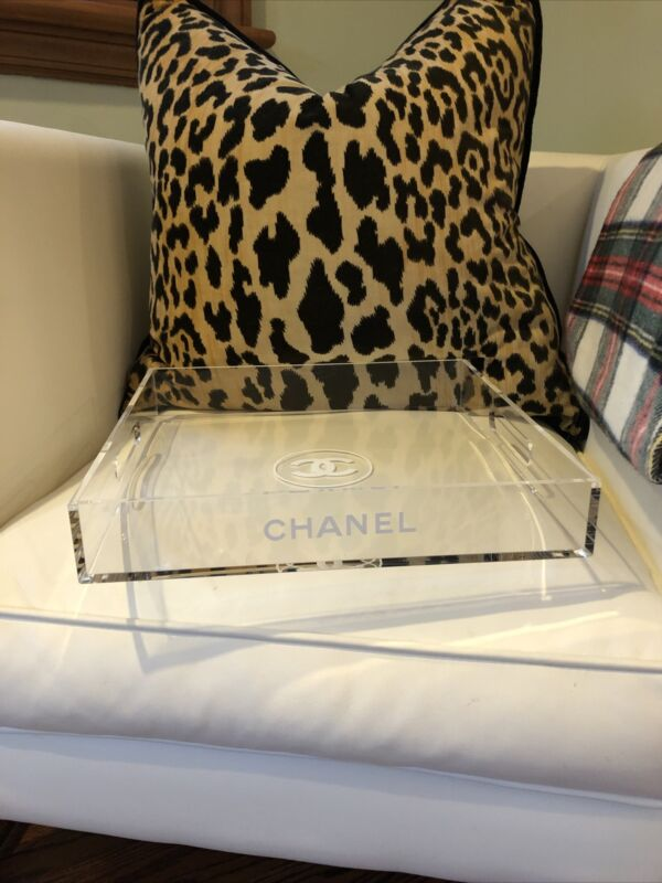 Chanel Home Decor Acrylic Clear Lucite Tray