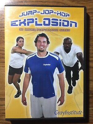 Jump Jop Hop Explosion 3D Matrix Performance Series DVD Workout Gray Institute  3d-matrix