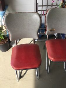 TWO MID CENTURY MODERN CHROME CHAIRS