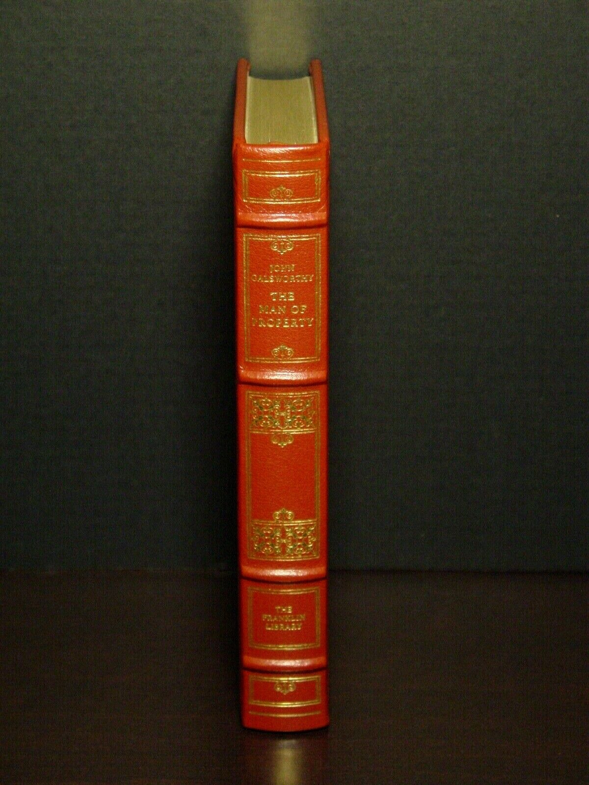 THE MAN OF PROPERTY - JOHN GALSWORTHY - FRANKLIN LIBRARY - BEST LOVED BOOKS - $27.50
