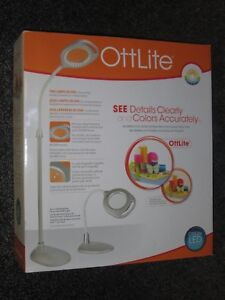 NEW! OttLite 2-in-1 LED Magnifier Floor and Table Lamp