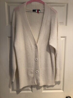 Jac+Jack Ivory Alpaca Long Sweater Cardigan