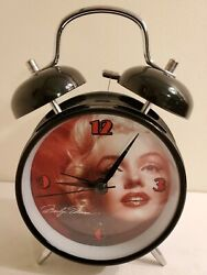 Working Marilyn Monroe Alarm Clock Home Desk Table Night Stand Clock