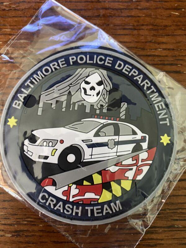 Baltimore Police BPD Crash Team Accident Investigation PVC Patch