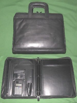 Monarch 1.0 3 Ring Black Leather Franklin Covey Planner Binder 8.5x11 6046