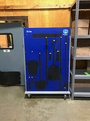 Janitorial Shadow Board Cleaning Supply Cart 74 X 49