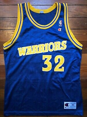 Joe Smith Men's 44 Large L Champion Replica Golden State Warriors NBA Jersey