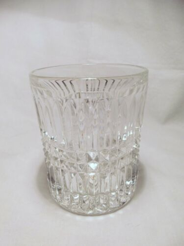 *NEW* Set of 8 vintage FOSTORIA crystal glass ASPEN rock LOWBALL GLASSES
