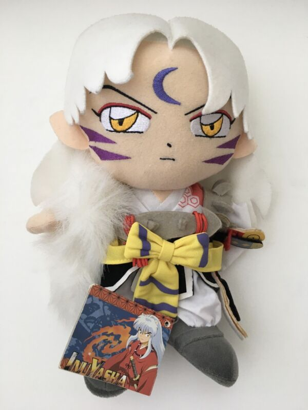 Inuyasha Sesshomaru Plush With Tags NEW RARE Rumiko Takahashi Brother 2000 2004
