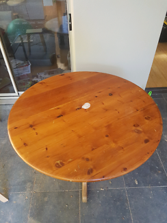 Old Hoop Pine Traditional Dining Table For Sale