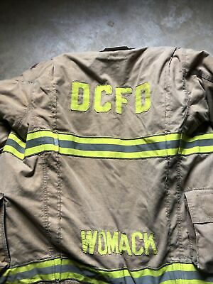 Globe Gxtreme Firefighter Turnout Bunker Jacket Fire Rescue Dcfd Rare 42 X 35