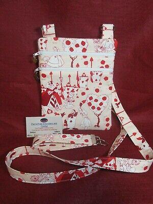 Alice in Wonderland- Queen of Hearts Theme Fabric Bag w/adj strap