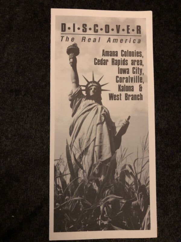 Discover The Real America Amana Colonies Travel Brochure