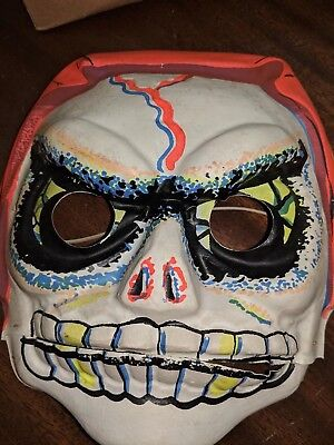 VINTAGE BEN  COOPER  THE SKULL HALLOWEEN Mask Chattermouth BOXED RARE See Pics](Halloween Mask Pic)