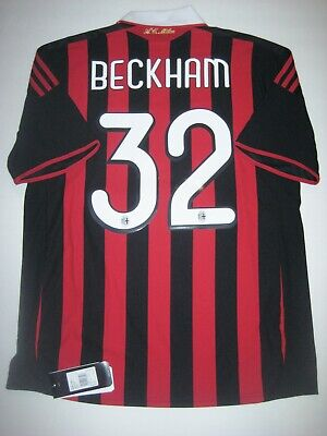 New 2009-2010 Adidas AC Milan David Beckham Home Kit Calcio Maglia Shirt Jersey