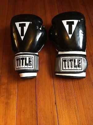 Title Boxing Classic Pro Style Training Gloves 14 OZ Black