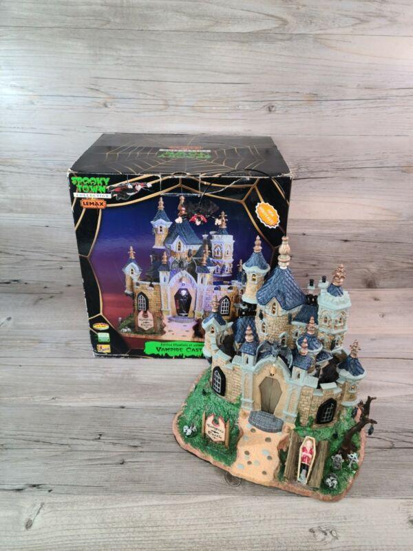 Lemax Spooky Town Vampire Castle- Works Great! Halloween Dracula Bats Spookytown