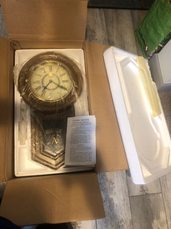 Regulator A Oak Pendulum Chiming Clock New in Package