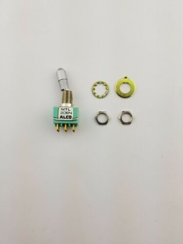 New Alco MTL206N DPDT ON-ON,  Panel Mount Locking Toggle Switch 6A 125V,